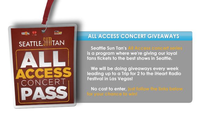 All Access Passes to Concerts All Access Concert Pass With